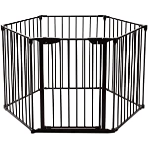 Costzon 150-Inch Multifunctional Gate with Adjustable Panels