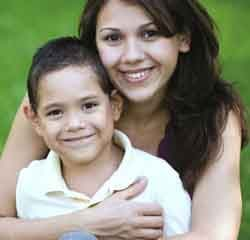 Alisha and her son James