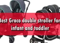 Graco double stroller for infant and toddler